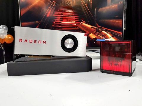 Un misterioso holocubo junto a la nueva AMD Radeon Vega RX ha despertado la curiosidad de muchos
