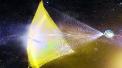 Ingenieros han lanzado al espacio la primera nave interestelar de la historia y tiene el tamaño de un chip