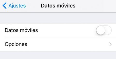 Datos móviles iOS