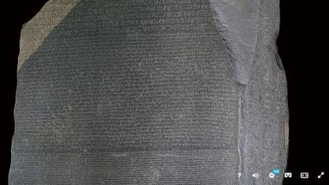 Explora en 3D la Piedra de Rosetta que tradujo los jeroglíficos