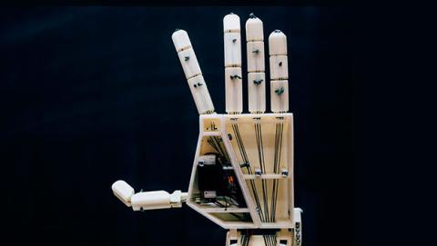 mano robotica lenguaje señas
