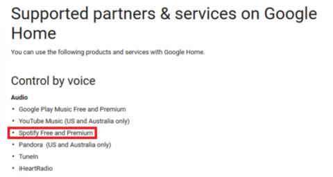 spotify google home