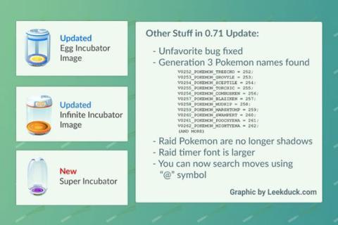 Las novedades que esconde Pokémon GO 0.71