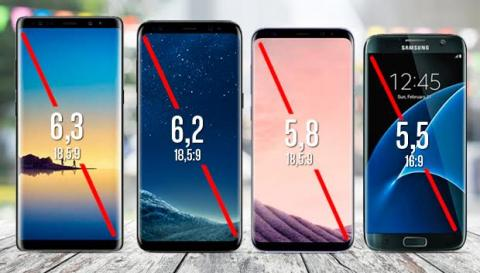 Galaxy Note 8 vs S8 Plus vs S8 vs S7 Edge