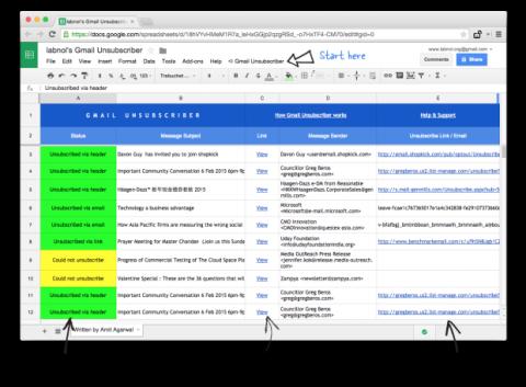 Gmail anular suscripciones