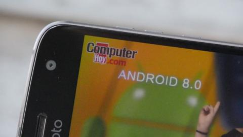 Detalle de la pantalla de este Motorola