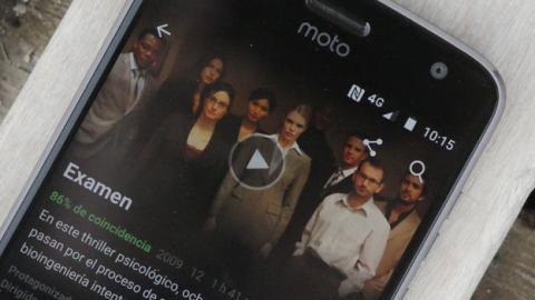 La aplicación de Netflix en el Z2 Play de Motorola