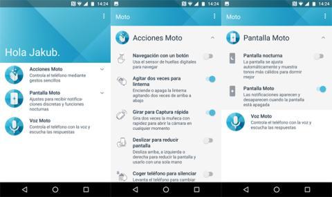Aplicación de Moto en el Z2 Play