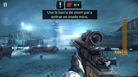 El juego Sniper Fury ejecutándose en el Z2 Play