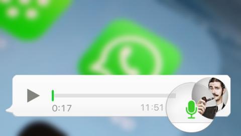 Cómo enviar audios de WhatsApp utilizando la grabadora.