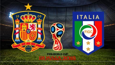España - Italia en directo por Internet.