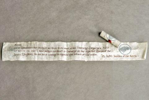 Carta de Jon Snow a Sansa en Juego de Tronos
