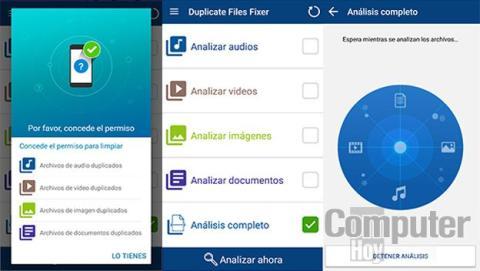 Elimina archivos duplicados en Android.