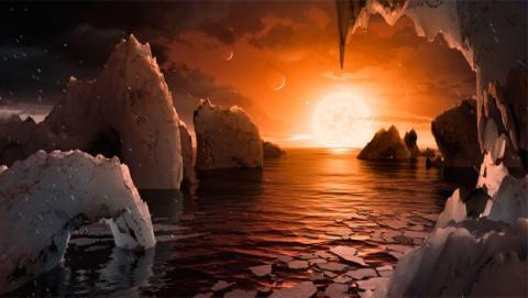 Indicios de agua y vida en el sistema solar Trappsit-1