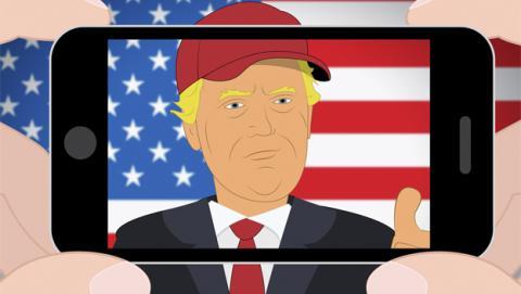 El iPhone de Donald Trump