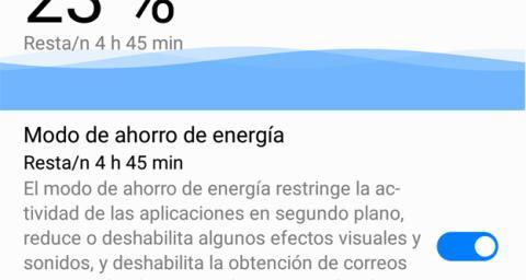 El ahorro de batería de Huawei