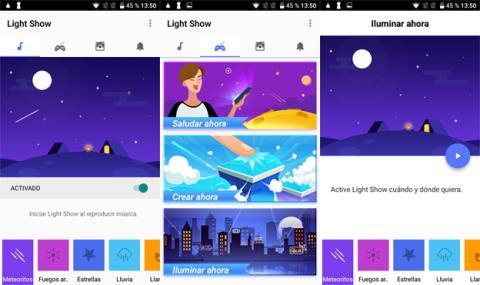 La aplicación de Light Show