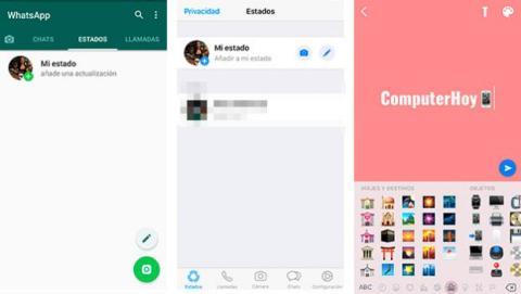 Estados texto WhatsApp