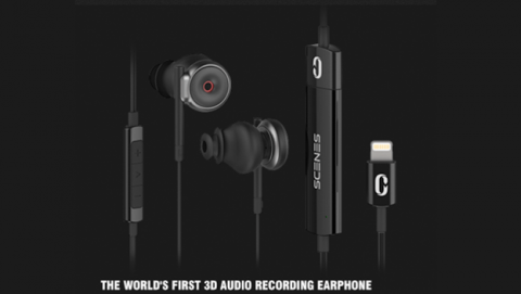 Scene Lifelike 3D, primeros auriculares grabar y reproducir sonido 3d