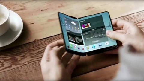 El primer móvil Samsung de pantalla plegable, listo para 2018.