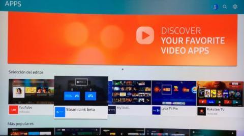 descargar apps en el televisor inteligente QLED de Samsung