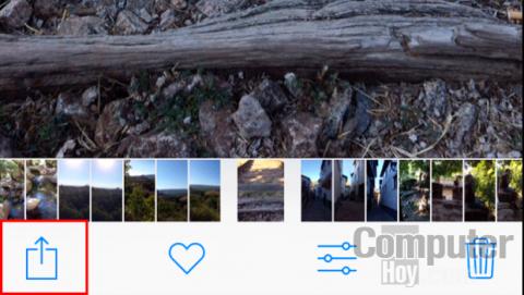 Opción ocuiltar foto de la galería de iPhone
