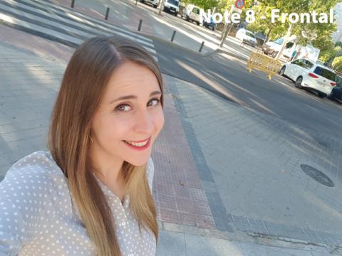 Fotografía tomada con la cámara frontal del Note 8