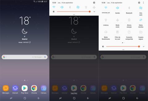 La interfaz del Samsung Galaxy Note 8