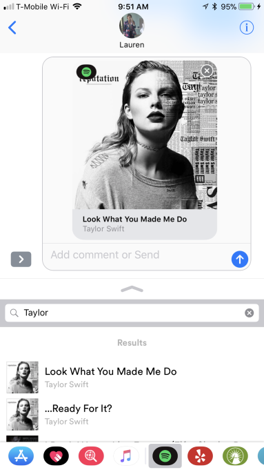 spotify imessage