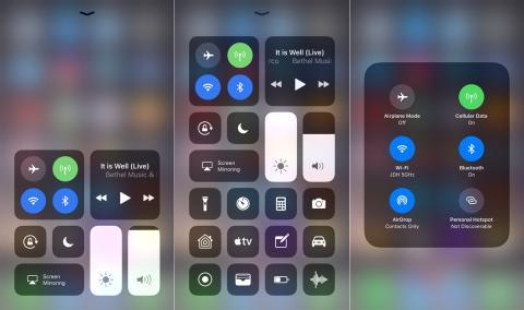 Panel de Control personalizado iOS 11.01