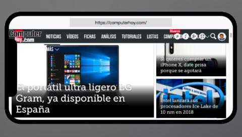 Así será la visualización de las páginas web en el iPhone X.