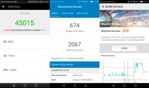 Benchmarks Honor 6C