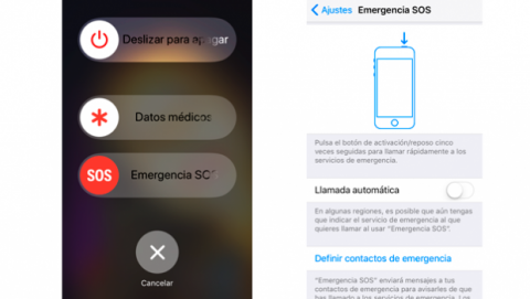 Modo Emergencias iOS 11