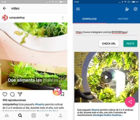 Descargar vídeos Instagram para Android