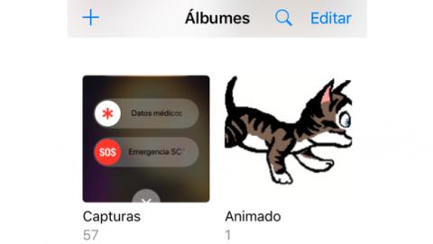 Albúm GIFs en galería de Fotos iOS 11