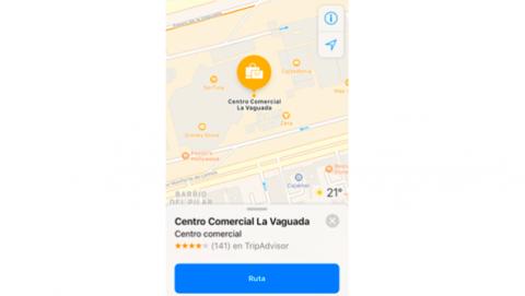Google Maps centros comerciales restaurantes iOS 11