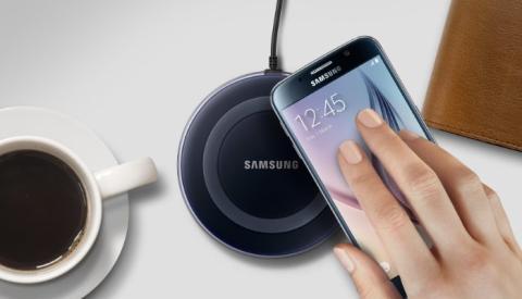 Cargador inalámbrico para Samsung.