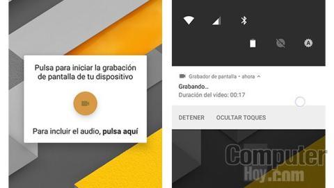 Graba la pantalla de tu móvil sin instalar nada