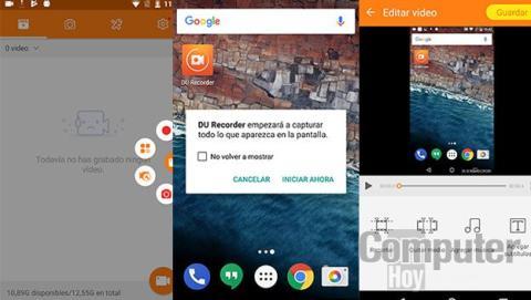 DU Recorder para grabar la pantalla de tu Android sin root