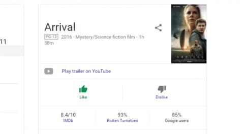 google películas
