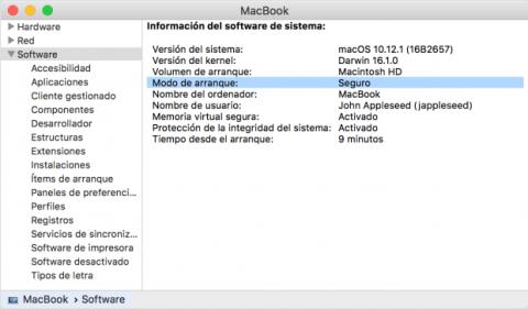 Modo seguro Mac