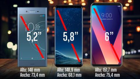 Así queda el Xperia XZ1 frente a otros móviles de alta gama con pantalla de 18:9