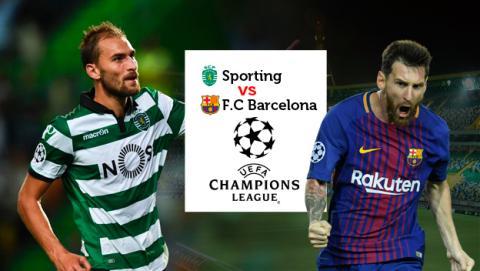Cómo ver en directo online el Sporting vs Barcelona de Champions League.