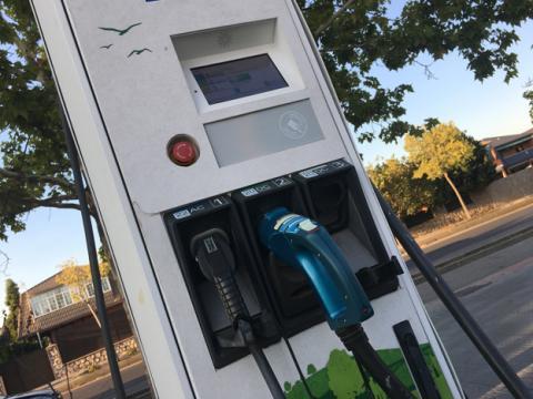 Un punto de carga para coches eléctricos