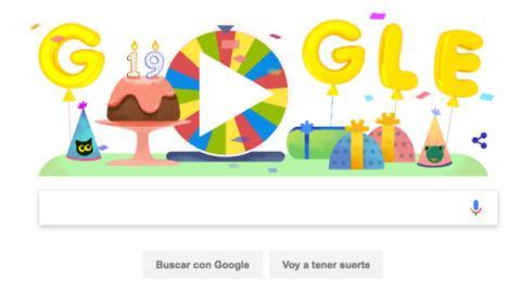 Google regala un Doodle con 19 juegos por su cumpleaños.