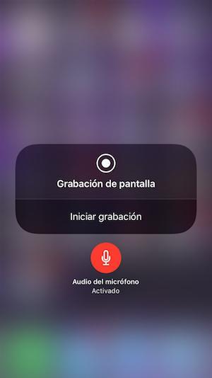 Grabar pantalla de iOS 11 con audio