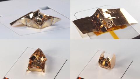 Robot origami que cambia de forma, un invento del MIT.