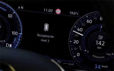 Los tres niveles de retención permiten configurar la fuerza que el coche hace sobre las ruedas al soltar el pie del acelerador
