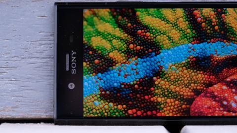 Detalle de la pantalla del Xperia XZ1
