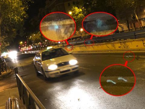 Ejemplo de los reflejos que generan las luces en las fotografías nocturnas tomadas con los móviles. Fotografía hecha con el iPhone 8 Plus
